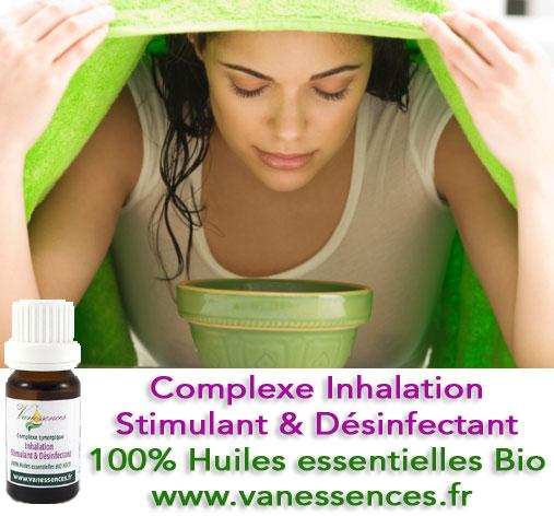Complexe inhalation stimulant désinfectant - huiles -essentielles bio
