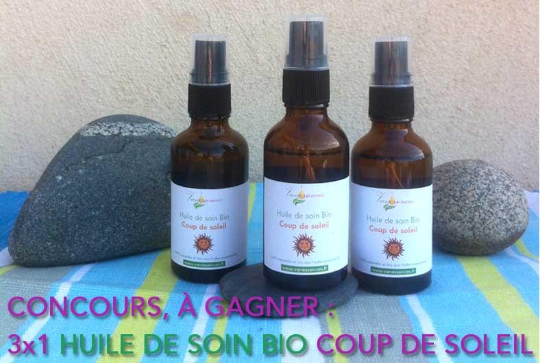 concours Vanessences huile soin bio coup de soleil aout 2016