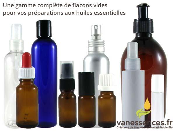 Flacons vides pour vos préparations à base d'huiles essentielles