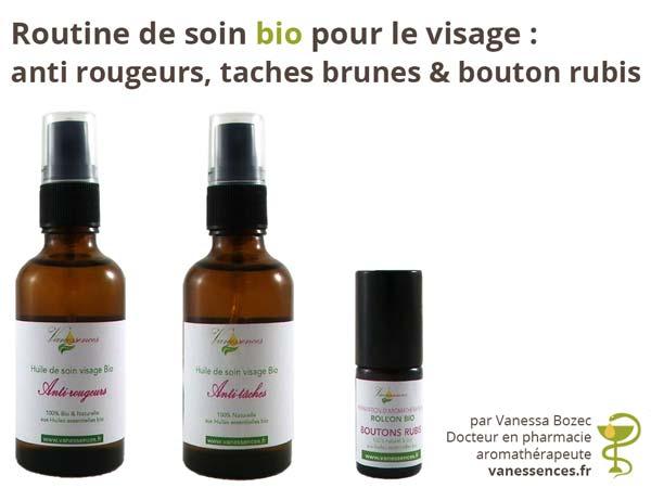 Anti Rougeur, taches brunes, bouton rubis : une routine de soin bio pour le visage