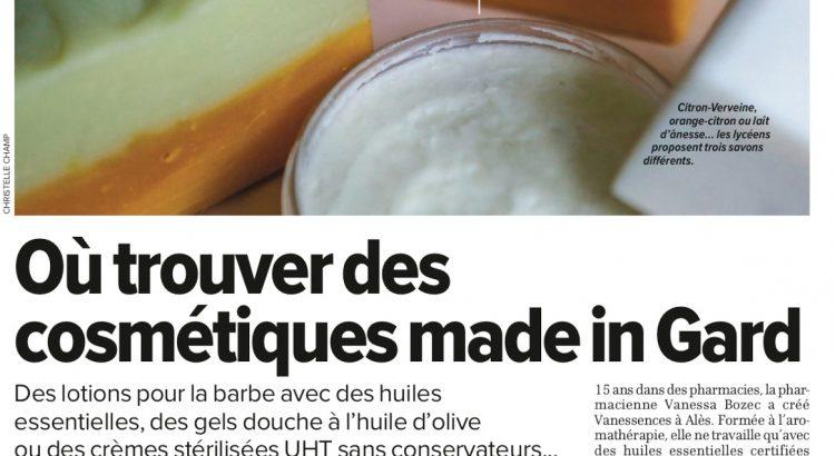 Article La Gazette de Nîmes sur vanessences.fr