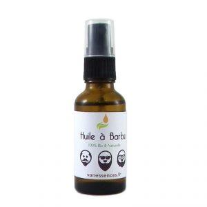 huile à barbe bio aux huiles essentielles