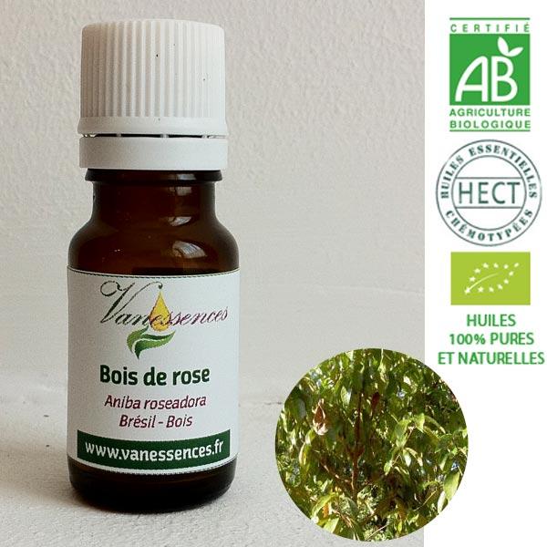 Huile essentielle BIO HECT Bois de Rose 10ml