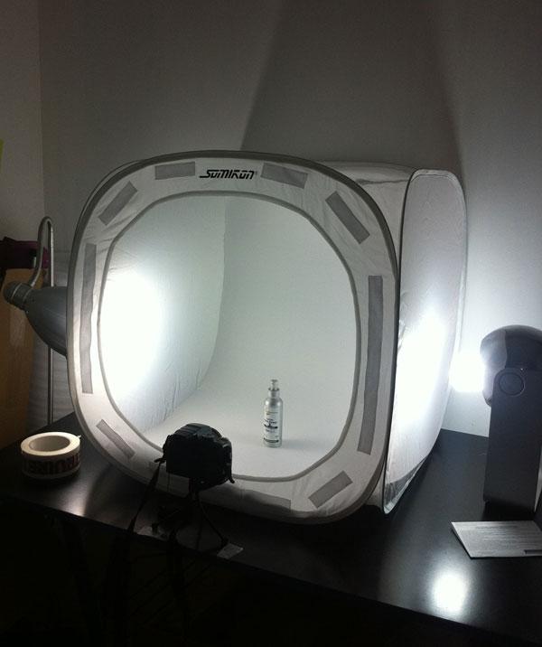 Le studio photo de Vanessences, soins cosmétiques naturels aux Huiles essentielles Bio